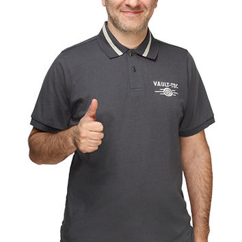Official Vault-Tec Polo T-Shirt - Grey,
