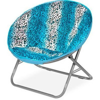 Plush Padded Moon Saucer Chair, Teal