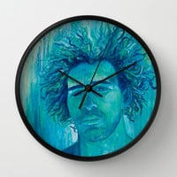 Salt Water Soul Wall Clock by Sophia Buddenhagen