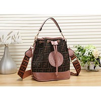 FENDI Newest Fashionable Women Handbag Tote Leather Shoulder Bag Crossbody Satchel Pink