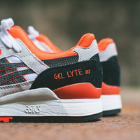 Asics Gel Lyte III - White/Black/Orange