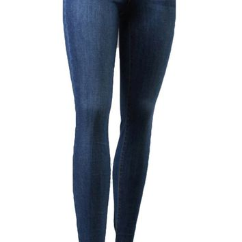 Flying Monkey High Rise Skinny Jeans Medium Blue