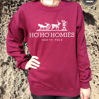 Ho Ho Homies Christmas Jumper Sweater Top San Fran Christmas Collection Ho' Ho' Paris south central New York tumblr North Pole