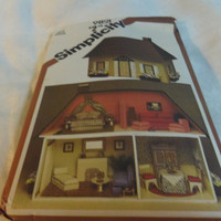 Dollhouse and Furnishings Uncut Pattern, Simplicity 9821