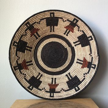 "Rust & Black African Basket 13"" - 15"""