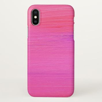 Claire Blossom Pink&Purple iPhone X Case