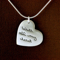 Heart Signature Necklace - Personalized Memorial Jewellery