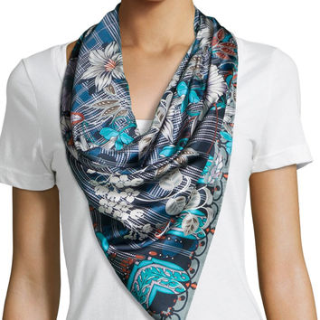 Urban Silk Print Scarf, Size: ONE SIZE, MULTI URBAN - Johnny Was Collection