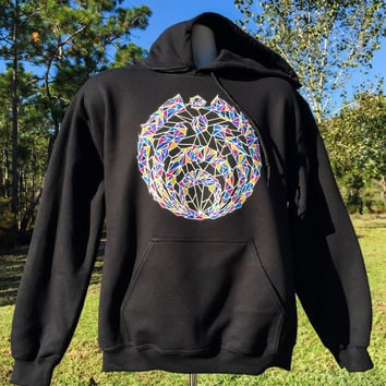 Spacenectar Black Bassnectar Gildan Hoodie Limited prints