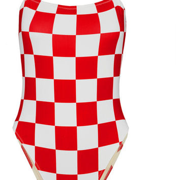 Solid & Striped - + RE/DONE The Malibu checked swimsuit