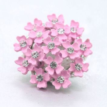 VONESC6 2colors Babysbreath  Flower 18mm metal  snap button Wrist watches for women sterling jewelry M703 charm bracelet  one direction