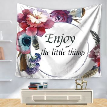 Hippie Wall Hanging Tapestry English Letter Print Decorative Wall Hanging 200*150/150*130cm Living room bedroom Wall Tapestry