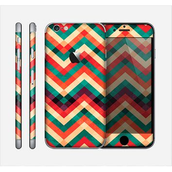 The Abstract Fall Colored Chevron Pattern Skin for the Apple iPhone 6