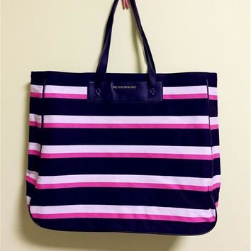 Waterproof Stripes Beach Bag [12149145043]