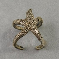 Trendy Vintage Starfish Cuff Ring