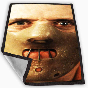 Hannibal Lecter Mask Silence of the Lambs Blanket for Kids Blanket, Fleece Blanket Cute and Awesome Blanket for your bedding, Blanket fleece **
