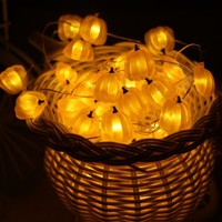 LED Tall Pumpkin String Lights
