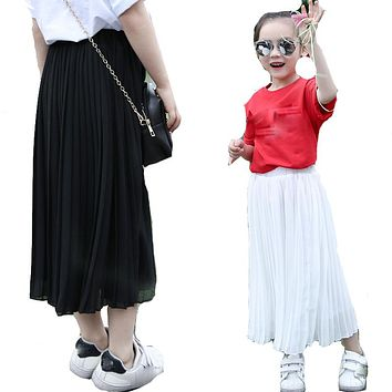 Skirts For Girls Cotton Girls Clothing Long Skirts For Children Summer Party Skirts Causal Kids Clothes