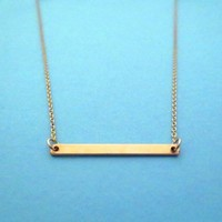 Beautiful, Goldfilled, Bar, Simple, Modern, Jewelry, Necklace