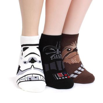 ONETOW Star Wars Socks Collection Men and Women Socks (Men's Lowcut(NIA) 4pairs), One Size Fits all Men's 8.5 - 11(Women's 6-8.5)