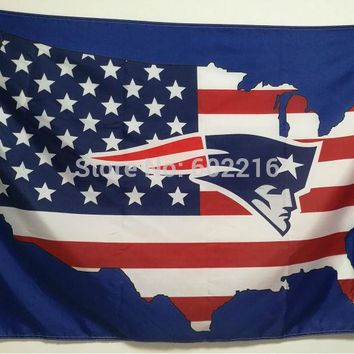 New England Patriots American Flag 3ft x 5ft Football Hockey Baseball USA Flag