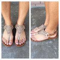 Nude Olympia Cut Out Sandals