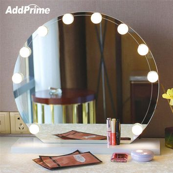 LED Vanity Table Makeup Mirror Light Bulb Kit USB Dimmable Makeup Table Hollywood Mirror Lights Bathroom Dressing Table Light