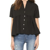 Otto d'ame Cinque Short Sleeve Blouse