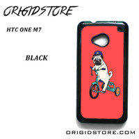 Pug Bicycle For HTC One M7 Case Please Make Sure Your Device With Message Case UY