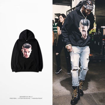 hiphop kpop hip hop streetwear hoodies urban clothing ihnomuhnit 90s fashion men clothes 2017 oversized black hoodie
