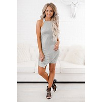 Lamia Striped Bodycon (Mint)