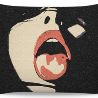 Adult series, 20x30 pillowcase only - Ready, for every last drop, kinky submissive
