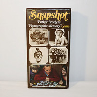 Snapshot Memory Card Game, 1970's Learning Board Game
