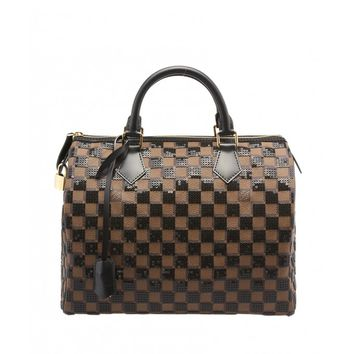 Louis Vuitton Speedy 30 Damier Paillettes Damier Coated Canvas & Sequin Satchel