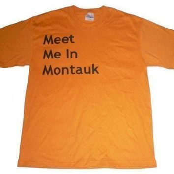 Eternal Sunshine Shirt Meet Me In Montauk Orange