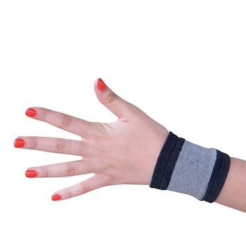 Evelots 2 Bamboo Wrist Wrap Support Elastic Compression Arthritis Brace,Medium
