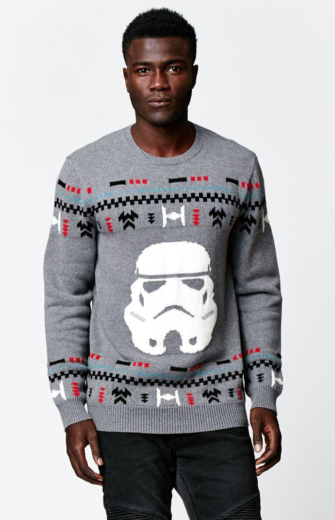 6ed6a726996403 On The Byas - Disney Star Wars Stormtrooper Pullover Sweater - Mens Sweater  - Gray