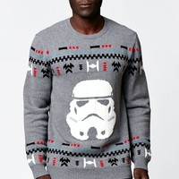 On The Byas - Disney Star Wars Stormtrooper Pullover Sweater - Mens Sweater - Gray