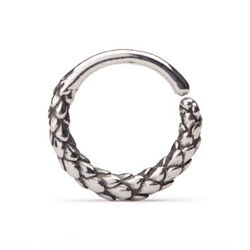 Septum Ring Nose Ring Snake Body Jewelry Sterling Silver Bohemian Fashion Indian Style 14g 16g - SE040R SSO