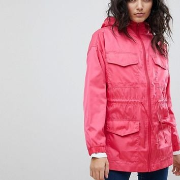 ASOS Four Pocket Detailed Rain Jacket at asos.com