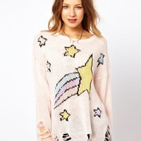Wildfox Shooting Star Loose Knit Jumper