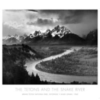 Tetons and The Snake River, Grand Teton National Park, c.1942 Art by Ansel Adams at AllPosters.com