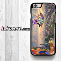 Disney Art Aladin Painting for iPhone 4 4S 5 5S 5C 6 6 Plus , iPod Touch 4 5  , Samsung Galaxy S3 S4 S5 S6 S6 Edge Note 3 Note 4 , and HTC One X M7 M8 Case