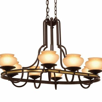 Durango 8 Light  Rectangular Chandelier