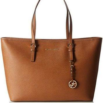 CREY9N MK Women Shopping Bag Leather Tote Handbag MICHAEL Michael Kors Women's Jet Set Multif