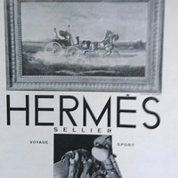 Art Deco Vintage French Ad for Hermes Sellier 1930