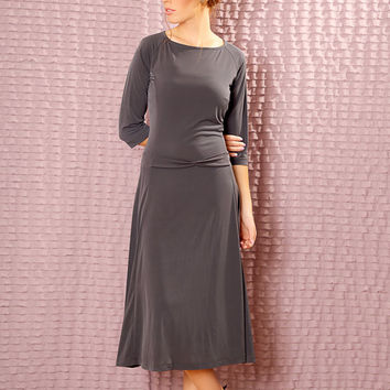 Custom  Bridesmaids dress - made to order midi dress -  Modest  dress with sleeves