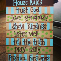 House Rules Painting by DesignedByTwo on Etsy