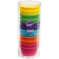 Wilton Standard Baking Cup Liners, Rainbow Brights, 300 ct. 415-2179 - Walmart.com