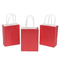 Small Candy Bags with Handles - Apple Red: 24-Piece Pack